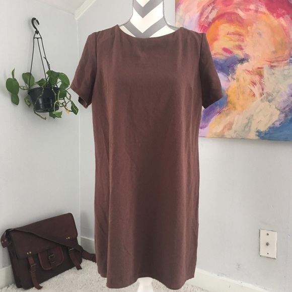 7b769aeb4e0f Charming Charlie Dresses   Skirts - Brown Boxy Loose Fit Dress Boho Style